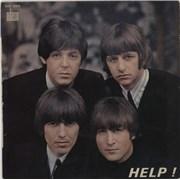 "The Beatles Help! - Orange Label - EX/VG France 7"" vinyl"
