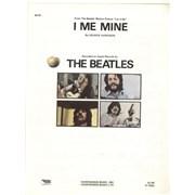 The Beatles I Me Mine USA sheet music