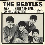 "The Beatles I Want To Hold Your Hand - 20th Anniversary - Stereo / Mono + Sleeve USA 7"" vinyl Promo"
