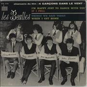 """The Beatles I'm Happy Just To Dance With You - Orange Label France 7"""" vinyl"""