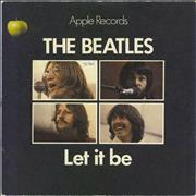 "The Beatles Let It Be - 1st - 4pr - P/S - VG UK 7"" vinyl"