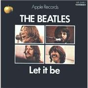 """The Beatles Let It Be - 1st Japan 7"""" vinyl"""