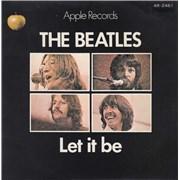 """The Beatles Let It Be - 2nd Japan 7"""" vinyl"""