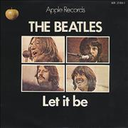 "The Beatles Let It Be - Red Vinyl Mono Japan 7"" vinyl"