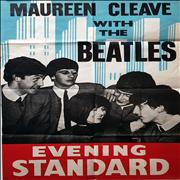 The Beatles Maureen Cleave with The Beatles UK poster