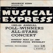 The Beatles NME Poll-Winners Concert 1966 + Ticket UK tour programme