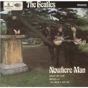 """The Beatles Nowhere Man EP - EMI Text UK 7"""" vinyl"""
