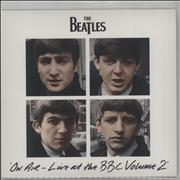"The Beatles On Air - Live At The BBC Volume 2 + Postcard UK 7"" vinyl Promo"