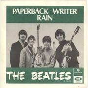 "The Beatles Paperback Writer - Blue Rear Sleeve Sweden 7"" vinyl"