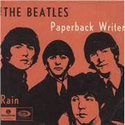 """The Beatles Paperback Writer Denmark 7"""" vinyl"""