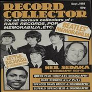 Click here for more info about 'The Beatles - Record Collector - September 1981'