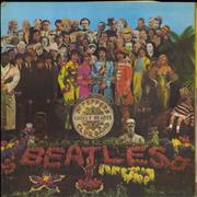 The Beatles Sgt. Pepper's - Wide Spine - Complete - EX UK vinyl LP