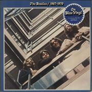 The Beatles The Beatles / 1967-1970 - Blue Vinyl - EX - stickered UK 2-LP vinyl set