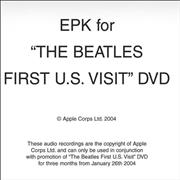 Click here for more info about 'The Beatles - The Beatles First U.S. Visit EPK'