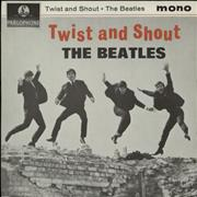 "The Beatles Twist And Shout EP - 6th - EMI UK 7"" vinyl"
