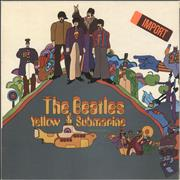 The Beatles Yellow Submarine - Pathé - Stickered Sleeve UK vinyl LP