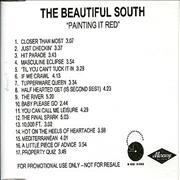 Click here for more info about 'The Beautiful South - Painting It Red'