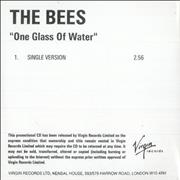 Click here for more info about 'The Bees (00s) - One Glass Of Water'