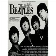 The Bootleg Beatles The Beatles In Concert - Tour Itinerary & Laminated Pass UK Itinerary