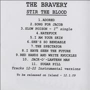 Click here for more info about 'The Bravery - Stir The Blood'