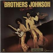 Click here for more info about 'The Brothers Johnson - Right On Time - promo stickered'