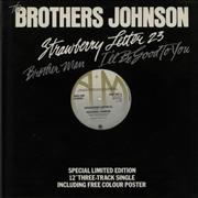 Click here for more info about 'The Brothers Johnson - Strawberry Letter 23 + Poster'