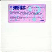 Click here for more info about 'The Bunburys - Fight (No Matter How Long) - Pink sticker'
