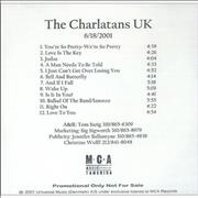 Click here for more info about 'The Charlatans (UK) - 6/18/2001'