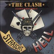 """The Clash Should I Stay Or Should I Go / Straight To Hell + Stencil UK 12"""" vinyl"""