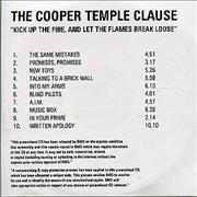 Click here for more info about 'The Cooper Temple Clause - Kick Up The Fire, And Let The Flames Break Loose'
