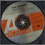 The Corrs Breathless USA CD single Promo