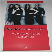 The Corrs Breathless UK poster