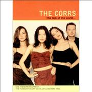 The Corrs Postcard & Sticker Set USA handbill Promo