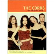 The Corrs The Talk Of The World... USA handbill Promo