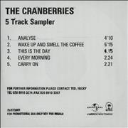 Click here for more info about 'The Cranberries - Sampler - Wake Up And Smell The Coffee'