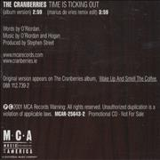 Click here for more info about 'The Cranberries - Time Is Ticking'