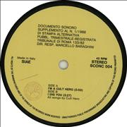 """The Cure I'm A Cult Hero - Yellow Italy 7"""" vinyl Promo"""