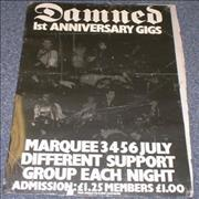 Click here for more info about 'The Damned - 1st Anniversary Gigs - Marquee'