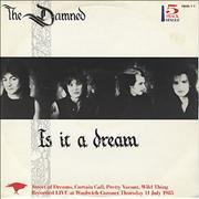 Click here for more info about 'The Damned - Is It A Dream'