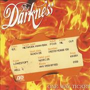 Click here for more info about 'The Darkness - One Way Ticket With Ticket Sleeve'