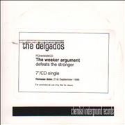 Click here for more info about 'The Delgados - The Weaker Argument Defeats The Stronger'
