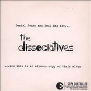 The Dissociatives The Dissociatives UK CD album Promo