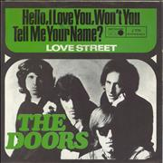 """The Doors Hello, I Love You, Won't You Tell Me Your Name? Germany 7"""" vinyl"""