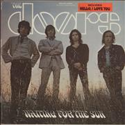 The Doors Waiting For The Sun - 1st - hype sticker USA vinyl LP