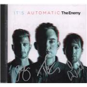 The Enemy It's Automatic - Autographed UK CD album