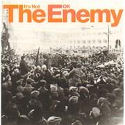 The Enemy It's Not OK UK CD-R acetate Promo