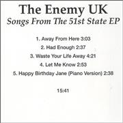Click here for more info about 'The Enemy - Songs From The 51st State EP'