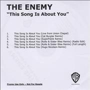 Click here for more info about 'The Enemy - This Song Is About You'