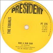 Click here for more info about 'The Equals - Rub A Dub Dub - Solid centre'