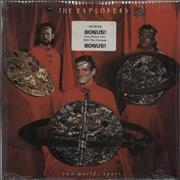 """The Explorers Two Worlds Apart + Picture Disc UK 12"""" vinyl"""